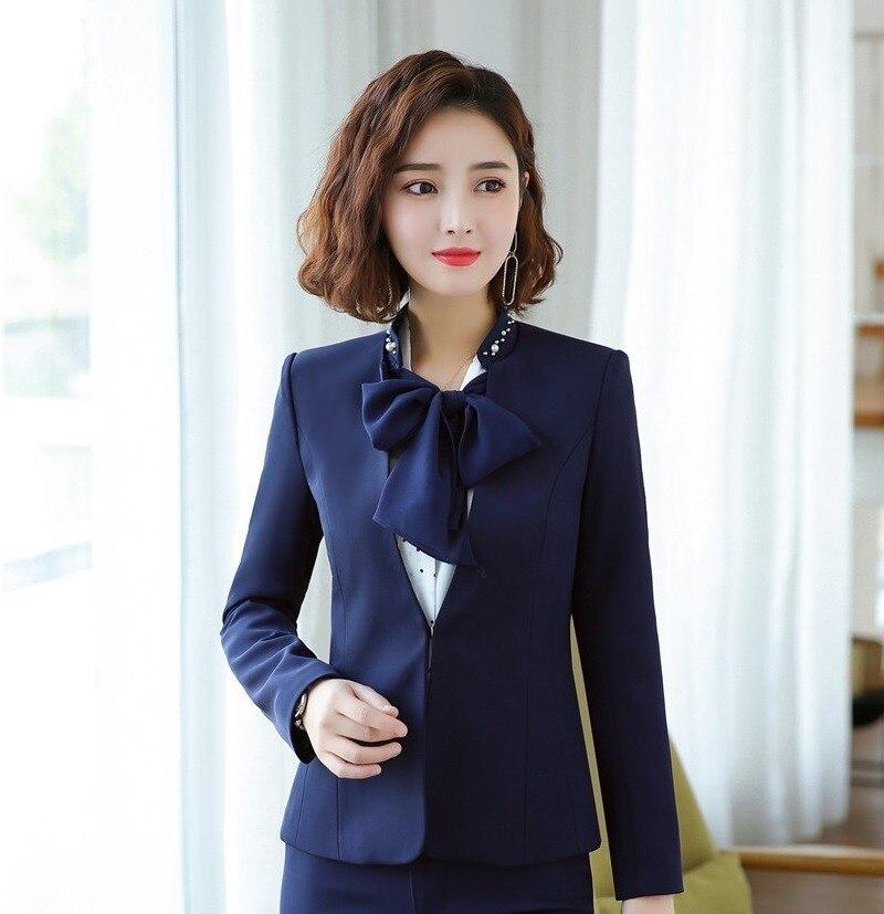 2019 Newest Autumn Winter Formal Blazers Jackets Coat Ladies Office Work Wear Uniform Styles Outwear Tops Women Blaser Clothes