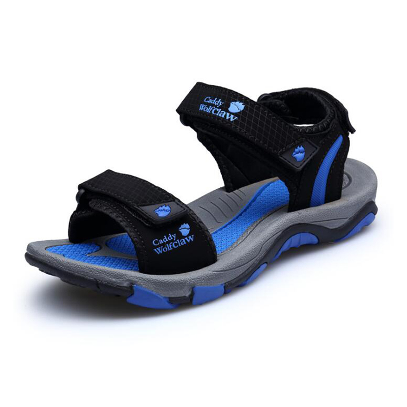 Men sandals 2018 summer shoes casual flat non slip beach sandals for the seaside size 38 45