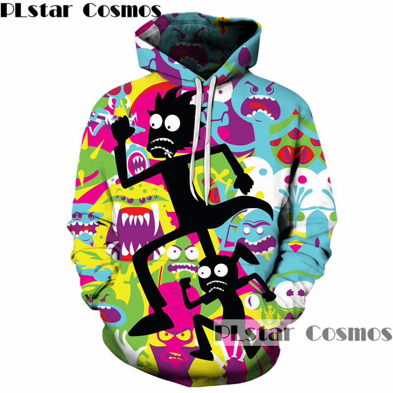 PLstar Cosmos hot sale Rick and Morty 3D Hoodies Men/Women Sweatshirts digital printing casual Hoodie Pullovers Brand clothing