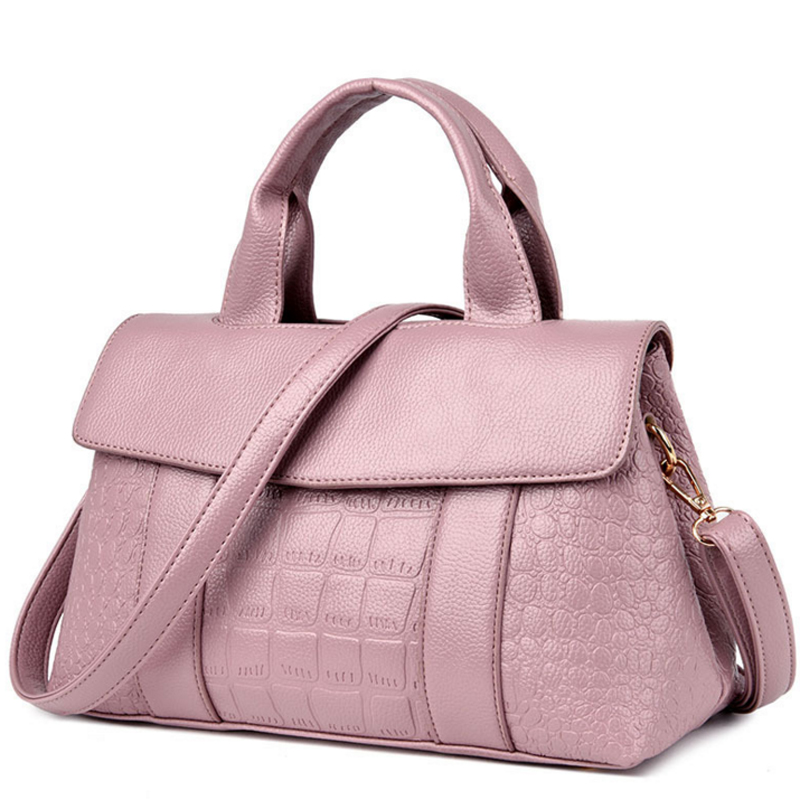 2018 Fashion Women Crocodile Pattern Big Handbag Ladies PU Leather Shoulder Bags Female Messenger Bag High Quality Crossbody Bag цена