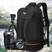 Сумка для камеры, сумка для путешествий, зеркальная фотокамера, рюкзак, водонепроницаемая, ткань Оксфорд, камера, сумка на плечо для Canon 5D 7D Nikon D3400 Sony A6000