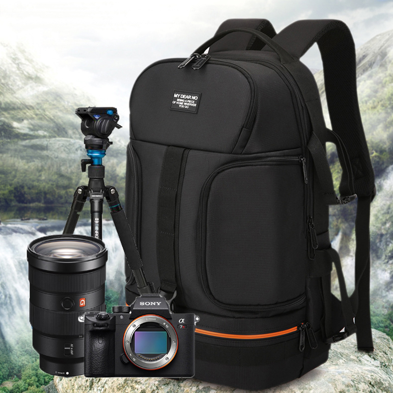 Camera Bag Outdoor Travel SLR Photo Backpack Waterproof Oxford Cloth Cameras Shoulder Bag for Canon 5D 7D Nikon D3400 Sony A6000