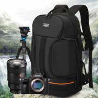 Sac Photo de voyage en plein air sac à dos Photo reflex étanche Oxford tissu caméras sac à bandoulière pour Canon 5D 7D Nikon D3400 Sony A6000