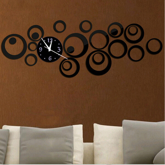 2016 New Acrylic Diy Wall Clock Clocks Watch Reloj De Pared Modern Design Needle Abstract Horloge Large Decorative Duvar Saati