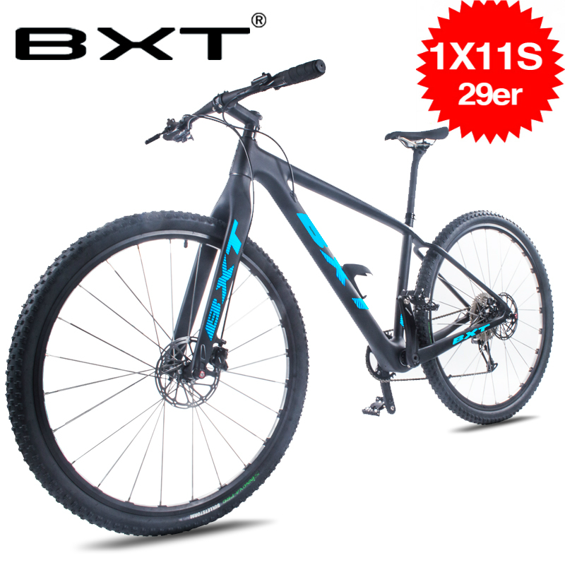 Free Shipping BXT 11 Speed Mountain Bike 29-Inch Full Carbon Frame Dual Disc Brakes 29er*2.1 Tire Men Women Bicycle