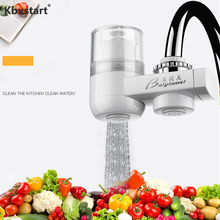 Tap Water Filter Faucet Terminal Purification Home Kitchen Filtro De Agua Del Grifo Healthy Ceramic Cartridge Tap Water Purifier alloet mini tap faucets water filter faucets tap water purifier ceramic water filter cartridge purification rust remover