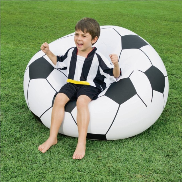 beanless sofa air chair comfortable pull out 75010 bestway 1 14mx1 12mx66cm soccer ball 45 x44 x26 inflatable football for single