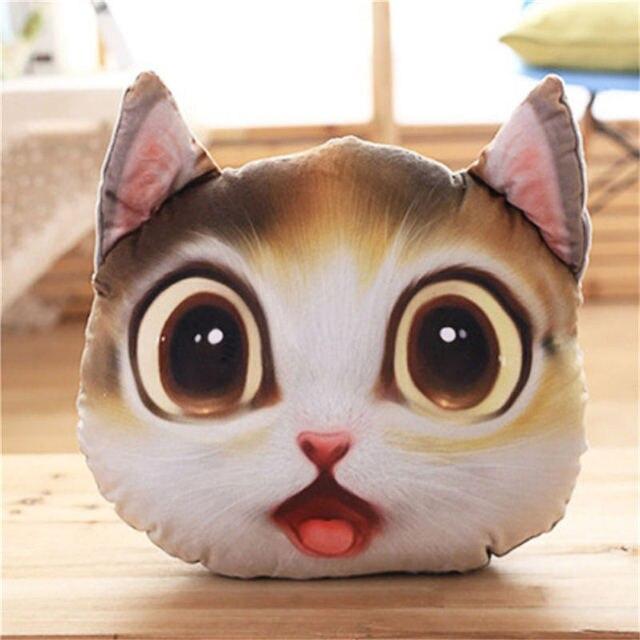 brixini.com - 3D Kitty Face Pillows