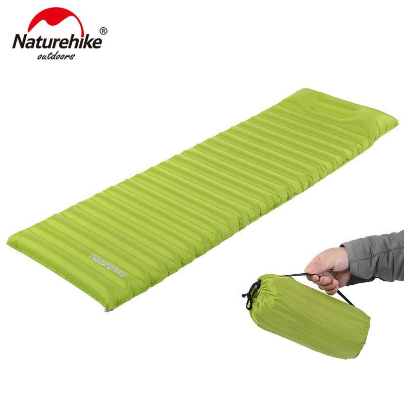 Naturehike colchão super leve inflável air bag enchimento rápido com travesseiro almofada de dormir NH16D003-D inovador