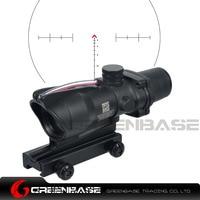 Greenbase Tactical Hunting Riflescope Chevron Reticle ACOG 4X32 Scope Real Fiber Optics Red Green Illuminated Optical