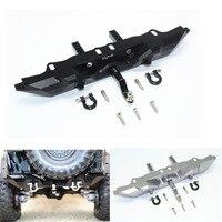 1/10 TRAXXAS TRX 4 Rc Car Aluminum Rear Bumper Protector Set Remote Control Toy Parts Accessories Black Gray