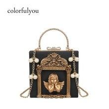 Luxury Designer Baroque styles women handbag pearl chain sho