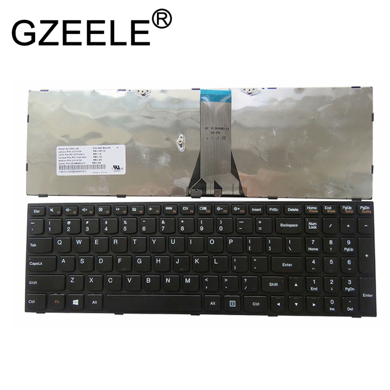 Original New for Lenovo Z51-70 US English Keyboard with Silver Frame