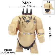 Single Sale Lord of the Rings Goblin King Cave Troll Big Size Building Blocks Model Bricks Educational Toy Children(China)
