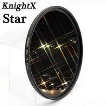 KnightX 52 58 67 mm Star Filter Point Line For Nikon D3200 D3100 D5100 D5000 D60 D40X 18-55mm lDSLR CAMERA d3300 49 55 72 77 62