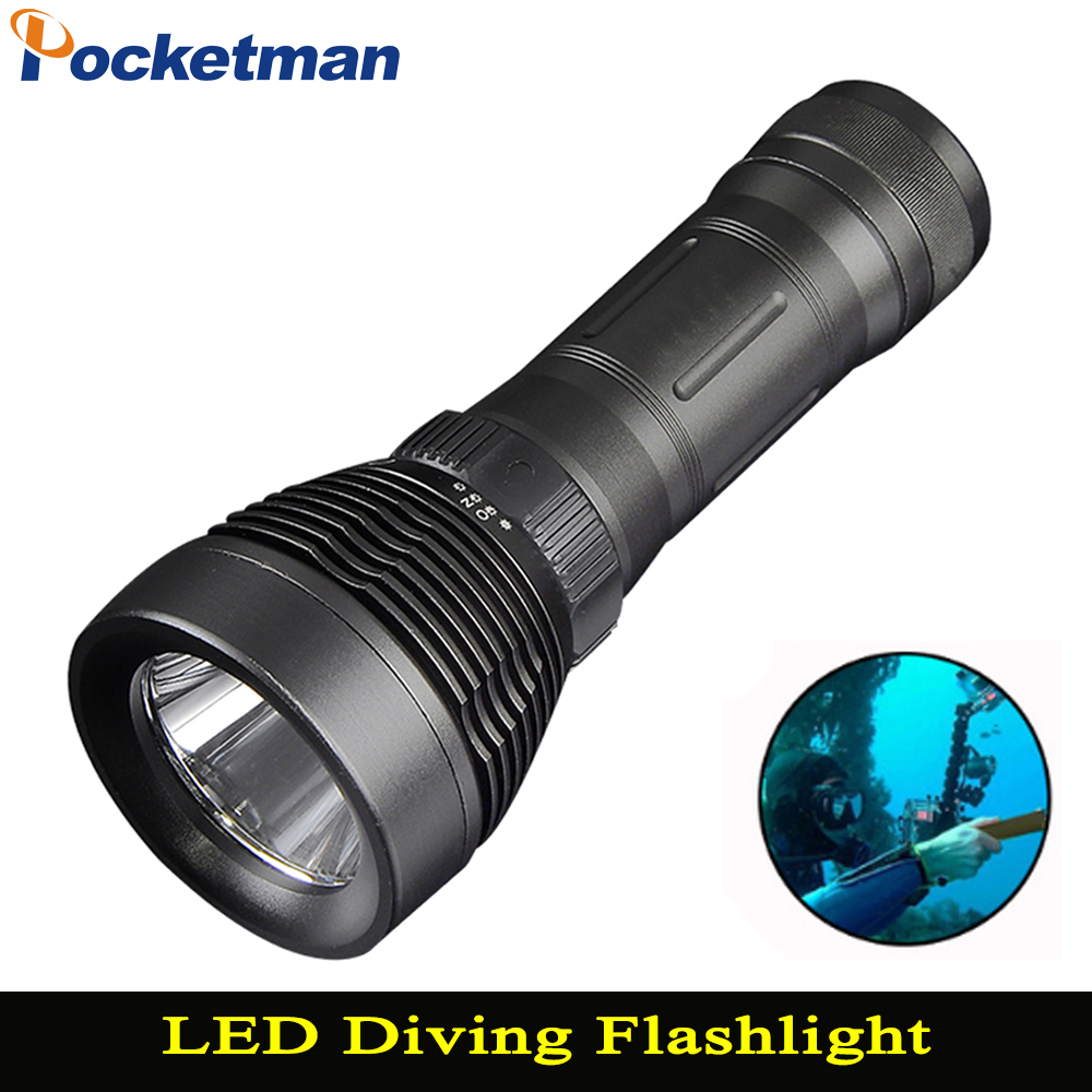 Scuba Diving Flashlight 18650 Light Dive Torch Powerful Cree LED XM-T2 Underwater Flashlight Waterproof Diving Lamp lanterna newest underwater scuba diving light 14000 lumen led torch cree 7 x xm l2 waterproof flashlight light for dive 26650 lanterna