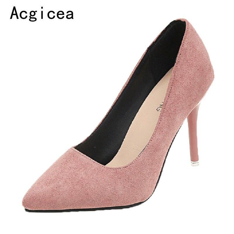 Aliexpresscom  Buy Size33 40 2018 New Womens Mature Pumps High Heels 4 Coulurs Classics Shoes -7982