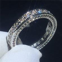 168c94783a1c Eterna promesa anillo AAAAA Cz piedra de oro blanco lleno de compromiso de  banda de boda anillos para las mujeres nupcial joyerí.