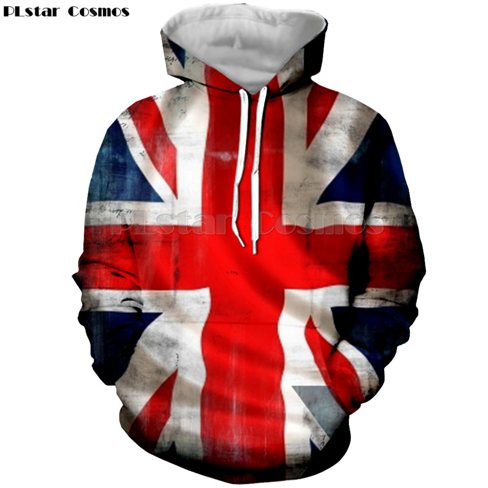 PLstar Cosmos Fashion brand Stripes American flag 3D printed sweatshier hoodies men women drawstring hoodies pullover sweatshirt