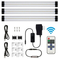 3PCS LED Under Cabinet Light Smd 2835 30CM Remote Control Dimmable Kitchen Lights Wardrobe Bar lamp Strip lamps home Decoration