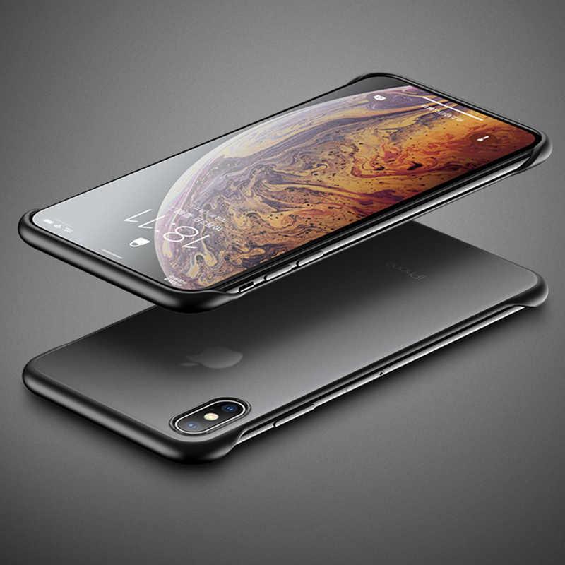 Lovebay Telefoon Case Voor iPhone 11 6 6s 7 8 Plus X XR XS Max Luxe Frameloze Ring Ontwerp scrub Hard PC Voor iPhone 11Pro Max Cover
