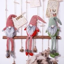 Christmas Plush Doll Gifts Holiday Decoration Handmade Striped Plush Santa Gnome Doll Tabletop Figurines Ornaments набор карандашей carioca bicolor 43031 48 цветов 24 шт