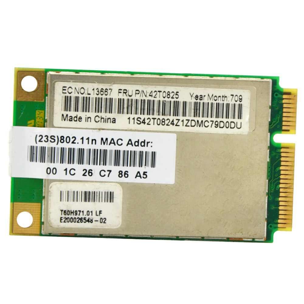 Atheros AR5418 AR5008 2 4GHz & 5 0GHz 300Mbps Mini WiFi PCI-e Adapter  Wireless WLAN Card for ThinkPad X60 X60S X61 R60 R60 T60