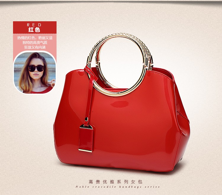 Promotion of new women's bags,Patent Leather Women Bag Ladies Cross Body Shoulder Bags Handbags Blue one size 29