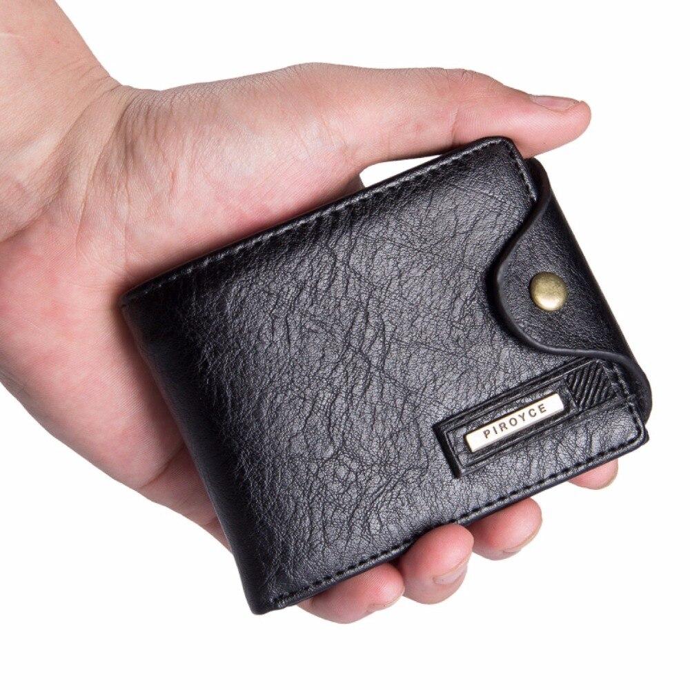 Pequeña cartera hombres multifunción bolso hombres billeteras con bolsillo de la moneda de la cremallera de cuero de los hombres Cartera de hombre de marca famosa bolsa de dinero