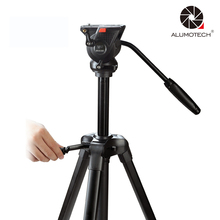 For Vidicon Digital Digicam DSLR Good Cellphone Max Load 6kg Aluminuium Tripod Stand