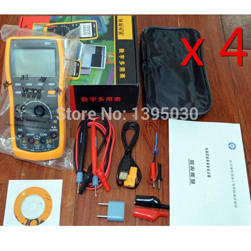 ФОТО New 10PCS/Lot VC86D VC30274 Digital Multimeter with RS232 USB with English Manual