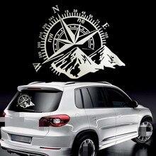 50x60cm 나침반 오프로드 자동차 스티커 및 데칼 자동 엔진 커버 도어 창 자동차 비닐 자동차 액세서리 2 색