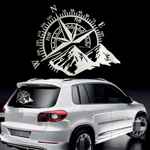 Image 1 - 50x60cm Compass Off Road Car Stickers and Decals Auto Engine Cover Door Window Car Vinyl Car Accessories 2 Colors