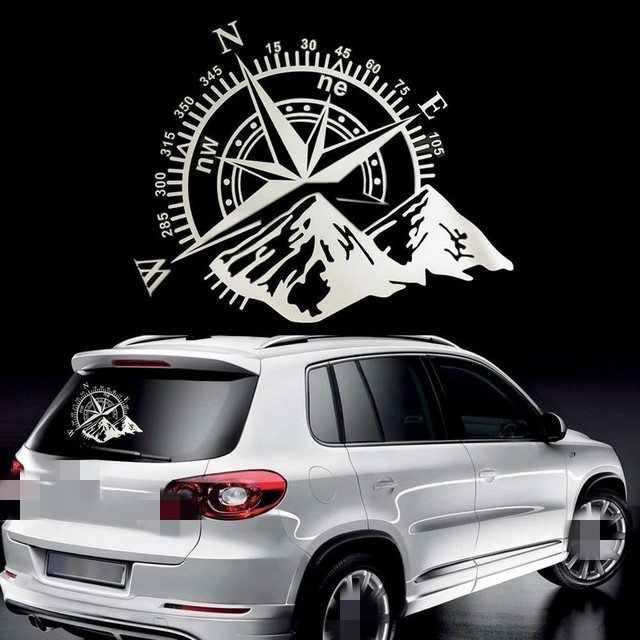 50x60cm Compass Off Road Car Stickers and Decals Auto Engine Cover Door Window Car Vinyl Car Accessories 2 Colors