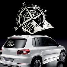 50x60cm bússola fora da estrada adesivos de carro e decalques auto motor capa porta janela carro vinil acessórios do carro 2 cores