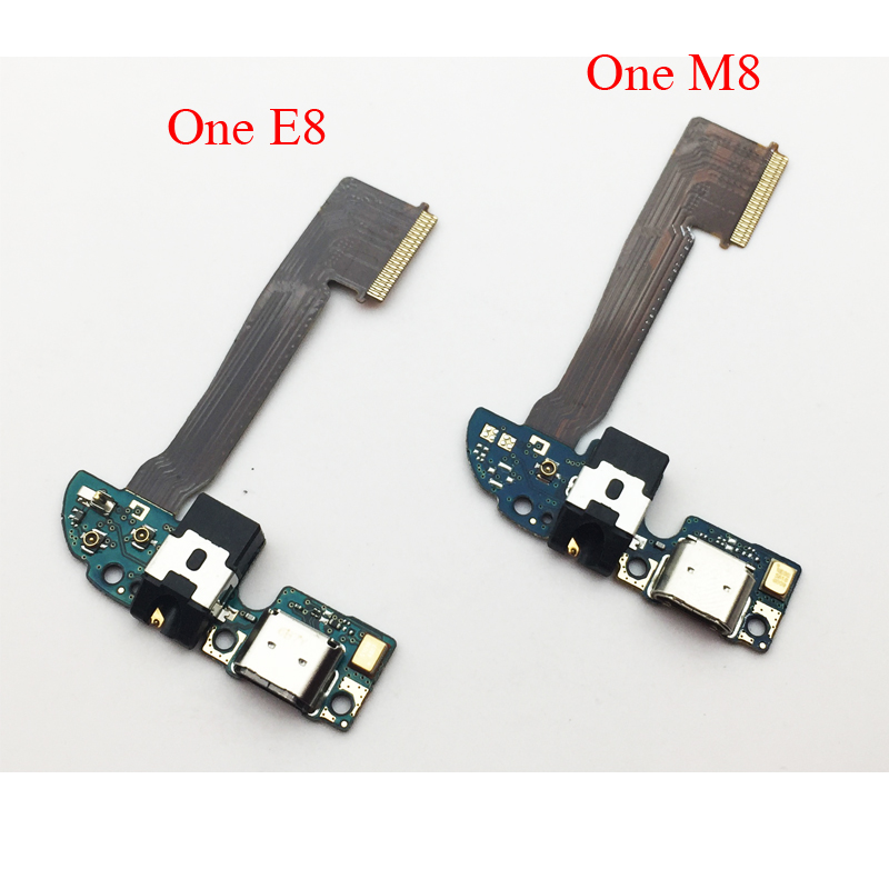 Original For HTC One M8 831c E8 USB Charging Port Dock Connector With Microphone Flex Cable Replacement