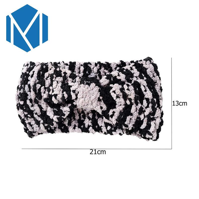 M Mism 2020 Zachte Camouflage Winter Haaraccessoires Voor Vrouwen Handgemaakte Gebreide Hoofdband Haak Tulband Warme Haarbanden Hoofddeksels Nieuwe