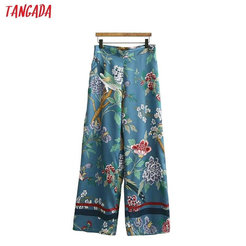 Tangada 2019 women print   wide     leg     pants   pantalon ladies streetwear   pants   loose female women bottoms XD460