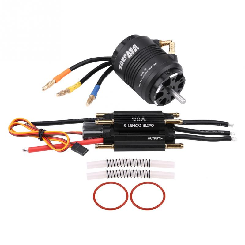 Surpass hobby 4 Poles 3660 4300KV Motor 36 S Water Cooling Jacket 90A Waterproof ESC for