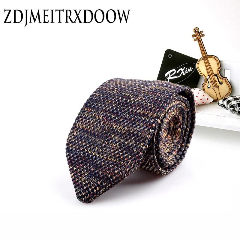 Új dizájn divat férfi márka karcsú tervező kötött nyakkendők nyakkendő nyakok keskeny vékony nyakkendők férfiak csíkos nyakkendők