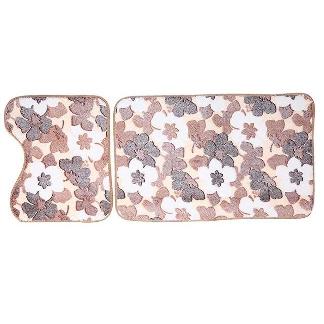 Online Shop 2 STKS Badkamer Matten Set Badmat Coral Fleece Floor ...