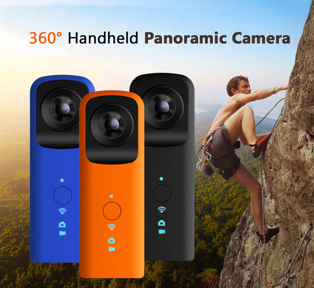 New Panoramic Camera 720 Dual Lens 4.0MP WiFi VR Camera Vedio Full HD Action Cam Panorama 1920*960 Video DVR Cam vr hd dual lens vr camera connected android mobile phone record 3d video vr get immersive experience