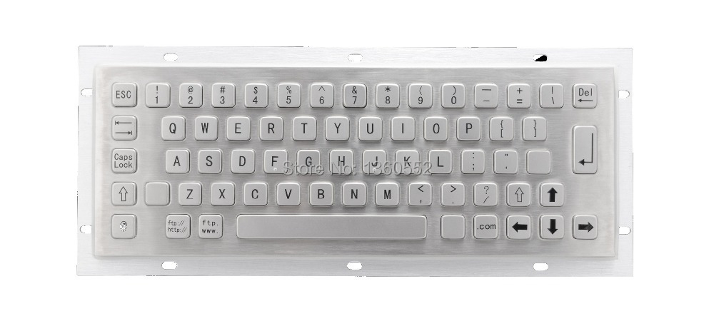 Kiosk IP65 mini vandalproof robust keyboard 65 keys Rear Mounting metal panel keyboard without integrated trackball