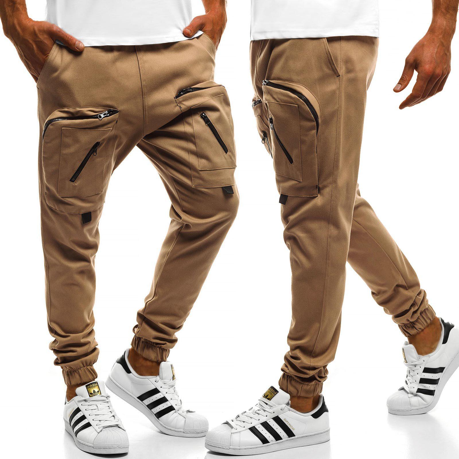 Pants Man New Arrival 2018 Casual Men Pants Cotton Slim Pant Straight Trousers Fashion Business Solid Khaki Black Pants Men