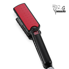 Cheaper GUSTALA Ultrathin Hair Straightener 7 Shape Tourmaline Ceramic Heating Plate LED Display Negative Ion Care Styling Tools