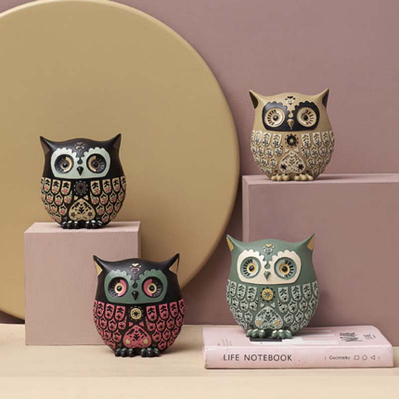 NYAA Creative Owl Home Living Room Decoration Bedroom Living Room Personality Lovely Gift Small DecorationNYAA Creative Owl Home Living Room Decoration Bedroom Living Room Personality Lovely Gift Small Decoration