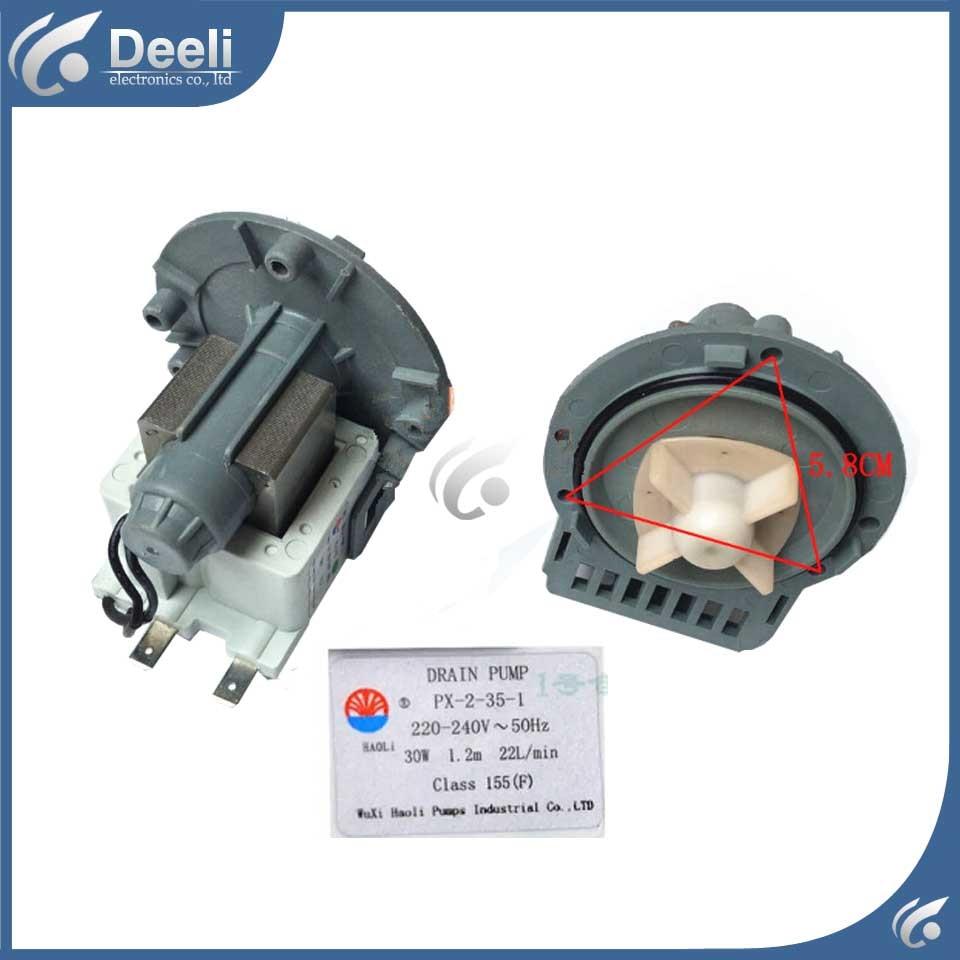 for Washing machine parts drain pump 220V 220V DC31-0030H B20-6 PX-2-35 = PX-2-35-1 drain pump motor good working washing machine parts dxt 15f g 3 5a 250v 6 wires 6 8cm hole distant