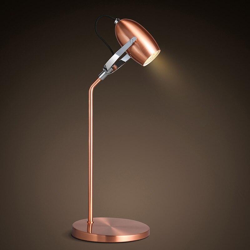Modern metal plating lamp LED reading lamp adjustable angle head lamp lighting creative fashion book Desk Lamps