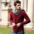 70% Blusas De Lã Dos Homens de Inverno dos homens Outono Homens Cardigan 2016 Nova Moda Casual Bolsos Magros Suéter Vermelho Plus Size MY331