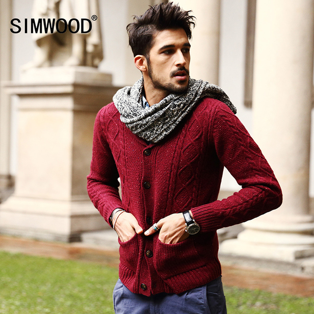 Men's 70% Wool Mens Sweaters Winter Autumn Cardigan Men 2017 New ...